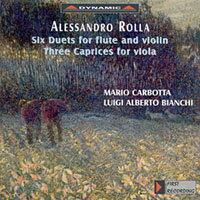 羅亞:長笛與小提琴二重奏、中提琴隨想曲 Rolla: 3 Duetti Concertanti for flute and violin, etc. (CD)【Dynamic】 - 限時優惠好康折扣