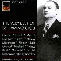 男高音吉利最精選 (1927-1946) The Very Best of Beniamino Gigli (1927-1946) (2CD) 【IDIS】 0