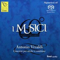 義大利音樂家合奏團:60週年紀念 I MUSICI: Antonio Vivaldi Concerti per archi e continuo (SACD)【fone】 - 限時優惠好康折扣