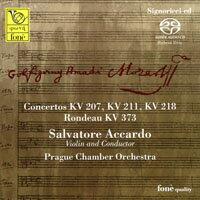 阿卡多的莫札特協奏曲 MOZART / Accardo: Concertos KV 207, 211, 218 (SACD)【fone】 0
