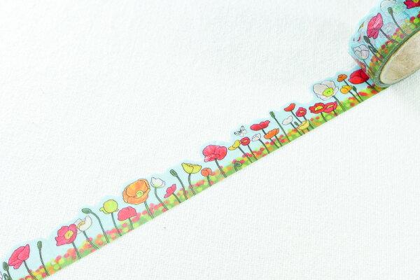 *小徑文化*日本進口 Yano design 造型和紙膠帶 - 罌粟花 ( YD-MK-003 )