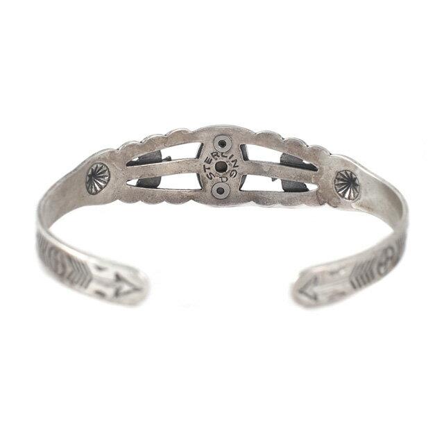 【海外訂購】【Indian Jewelry】印地安圖騰刻印綠松石古董手鐲(Vintage-077  S000008758) 4