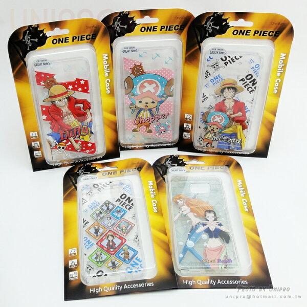 【UNIPRO】三星NOTE5 N9208 航海王 魯夫 喬巴 One Piece TPU 手機殼 軟殼 海賊王 N5