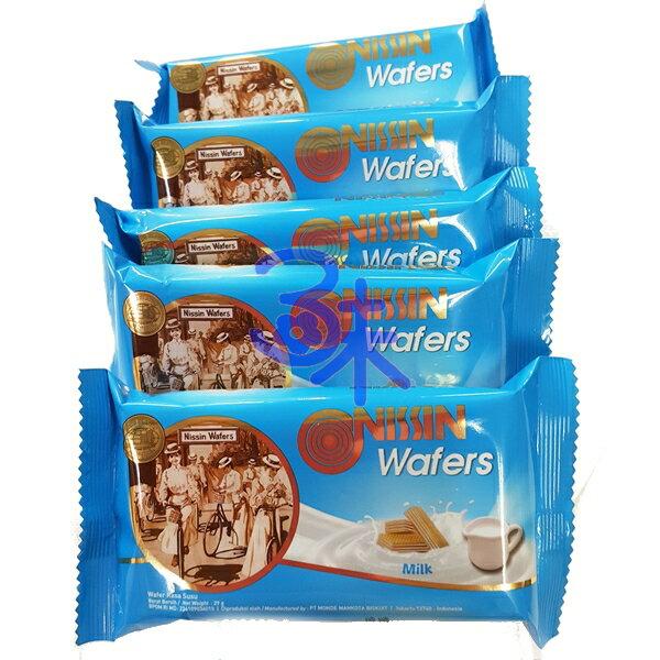 (印尼) NISSIN 日清威化餅-牛奶味 1包 600 公克 特價 106元 【 8888166339989 】