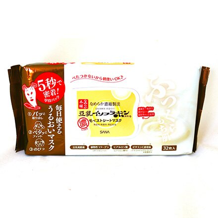 [敵富朗超市]SANA豆乳美肌5秒服貼美日面膜(32枚入) 0