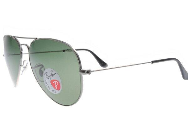 Ray Ban雷朋 槍色銀邊 太陽眼鏡 RB3025 偏光鏡 5