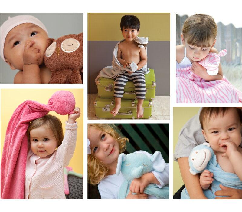 『121婦嬰用品館』美國Angel Dear 大頭動物嬰兒毛毯 花小兔AD2067(此商品售出不做退換) 3