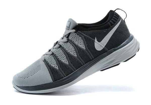 Nike Flyknit Lunar2 運動鞋 休閒鞋 登月6編織飛線慢跑鞋 男生鞋網鞋子(深灰/黑)