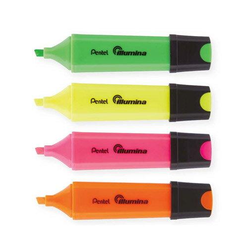 【PENTEL 飛龍】 SL60  四方螢光筆/方形螢光筆