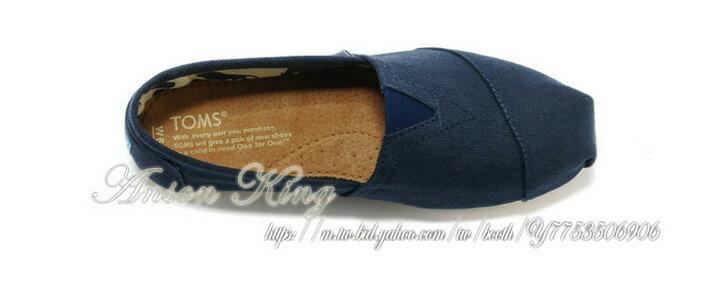 [女款] 國外代購TOMS 帆布鞋/懶人鞋/休閒鞋/至尊鞋 帆布系列  深藍 3