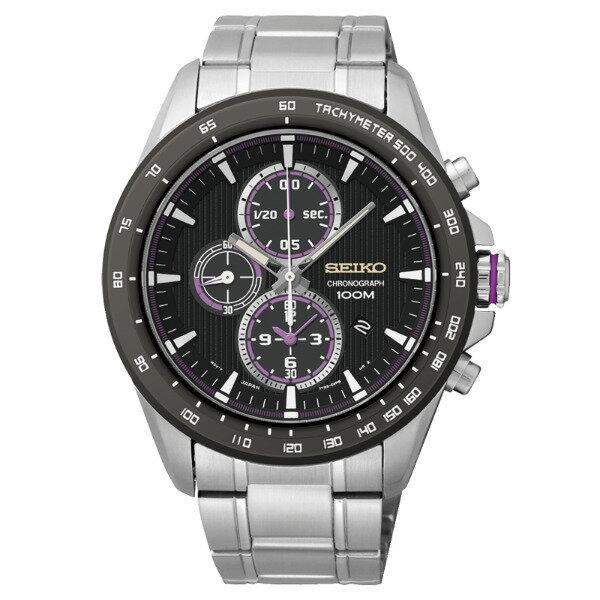 Seiko Spirit 7T92-0SC0D(SNDG19P1)街頭運動風格計時腕錶/黑面43mm