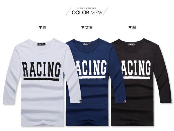 ☆BOY-2☆【NR05096】簡約修身素面RACING短T 1