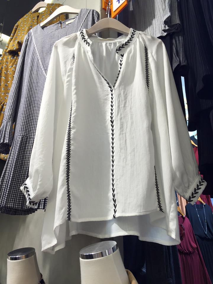 正韓民族領箭頭縮袖衫(現/預)2色 5