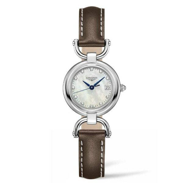 LONGINES L61304872騎士系列真鑽羅馬石英腕錶/珍珠母貝面26.5mm
