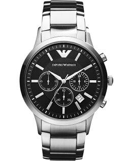 EMPORIO ARMANI/AR2434亞曼尼經典計時腕錶/黑面43mm