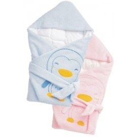 PUKU藍色企鵝 - 暖暖包巾 (水藍/粉紅) 0