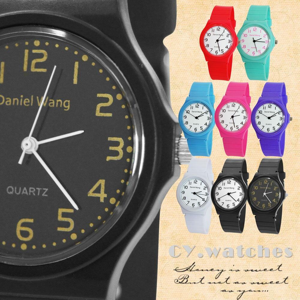 Daniel Wang 4118-日系 馬卡龍輕薄數字學生錶 0