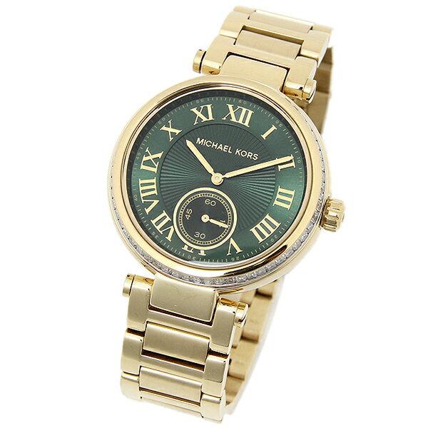 美國Outlet正品代購 MichaelKors MK 復古羅馬鑲鑽馬腦綠  陶瓷  三環 手錶 腕錶 MK6065 2