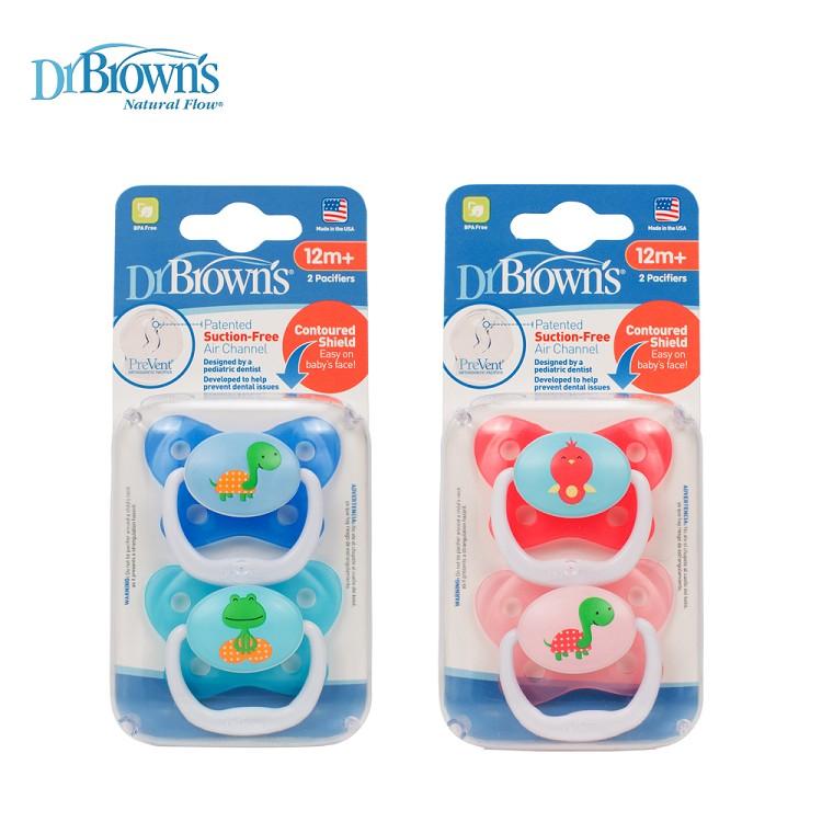 Dr. Brown's布朗博士 - PreVent功能性人體工學安撫奶嘴 12個月以上 2入裝 1