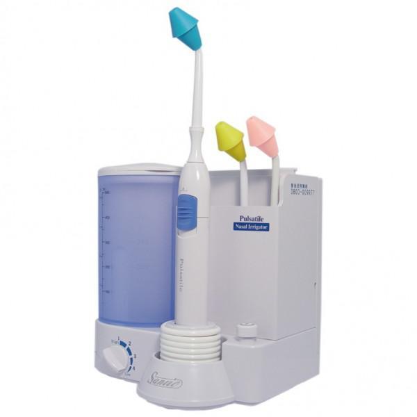 【善鼻】脈動式洗鼻器SH903「家庭用+專用洗鼻鹽20小包」,贈品:甜心蘋果9件修容組x1