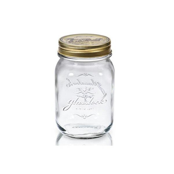 Glasslock經典玻璃密封罐500ml沙拉罐梅森瓶-大廚師百貨