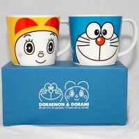 小叮噹週邊商品推薦DORAEMON 哆啦A夢 DORAMI 陶瓷馬克杯禮盒組 正版 日本製造