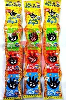 (日本)Tohato 東鳩4連手指圈圈餅-鹽味 1組 3條  1條 64公克 特價 200 元【4901940030552】(東鳩4連洋芋圈餅) 平均1條 66.6 元