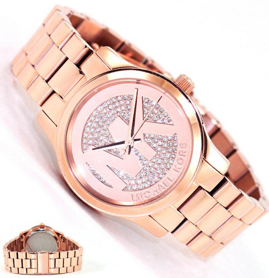 美國Outlet正品代購 MichaelKors MK 陶瓷 水鑽 三環 手錶 腕錶 MK5853 1
