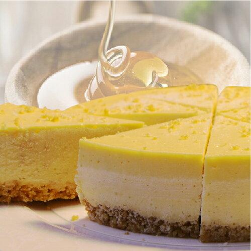 (免運)【阿妮琪烘焙屋】蜂蜜檸檬重乳酪蛋糕-6吋(蛋奶素)  ❤不露餡兒的好滋味❤  #新鮮檸檬刨絲混和龍眼蜜的內餡,減糖更健康# - 限時優惠好康折扣
