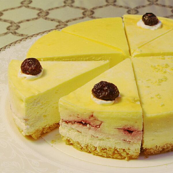 (免運)【阿妮琪烘焙屋】四喜拼盤重乳酪蛋糕-6吋(蛋奶素) ❤不露餡兒的好滋味❤ #新鮮水果熬煮的內餡(非罐頭果醬,無添加色素,香精),減糖更健康# (四種口味一次滿足:藍莓+蔓越莓+蜂蜜檸檬+百香果)