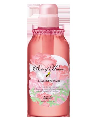 KOSE高絲玫瑰天堂香氛清新沐浴乳400ml~柔軟細膩泡沫,含玫瑰精油和乳油木果精華