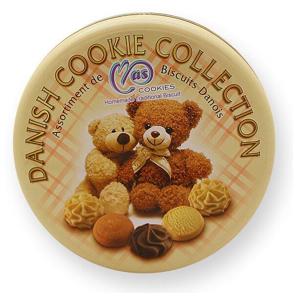 有樂町進口食品 麥斯小熊經典手工曲奇餅乾 口感似香港曲奇餅乾 價格不到一半 附專屬禮袋  955480005782
