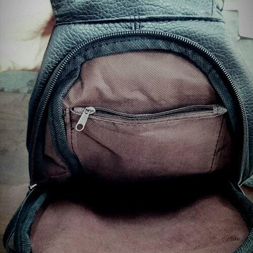 包包 - 編織造型背後拉鍊設計皮背包【21554】 藍色巴黎 - 現貨+預購 2
