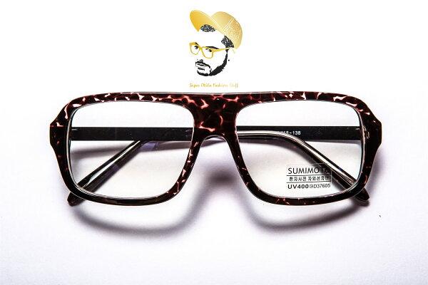 太陽眼鏡 墨鏡 眼鏡  韓國 super otila 【2025】抗藍光鏡片-玳瑁復古框