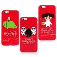 【Star Wars 】iPhone 6/6s 星際大戰彩繪紅色保護軟套-Q版