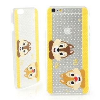 【Disney 】iPhone 6 plus 彩繪可愛風透明保護硬殼-大頭奇奇蒂蒂