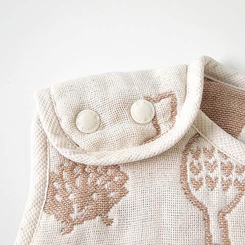 【安琪兒】日本【Hoppetta】無印森林有機棉六層紗防踢背心(幼童) 1