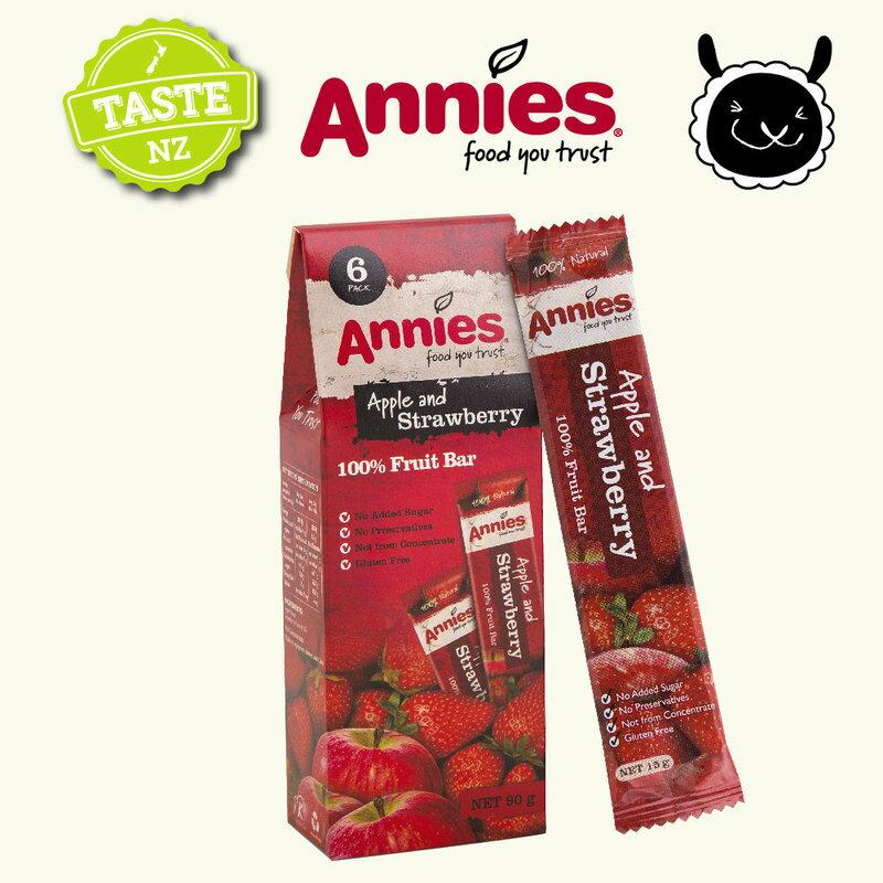 【壽滿趣- 紐西蘭原裝進口】Annies 全天然水果條(草莓/波森莓/百香芒果,任選 6盒共36片) 1