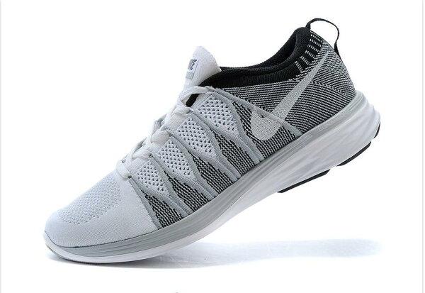 Nike Flyknit Lunar2 運動鞋 休閒鞋 登月6編織飛線慢跑鞋 男生鞋網鞋子 黑灰白