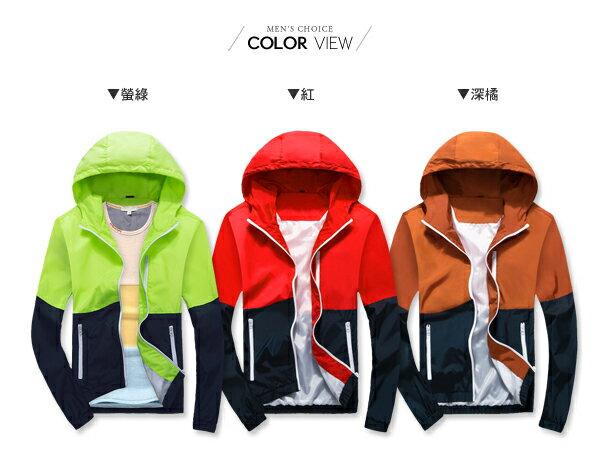 ☆BOY-2☆【NZ911B】韓流素面配色功能風衣外套 1