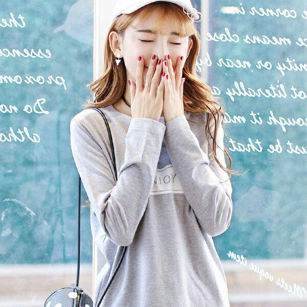 ◆快速出貨◆長袖T恤.情侶裝.班服.MIT台灣製.獨家配對情侶裝.客製化.純棉長T.方框ENJOY【YL0404】可單買.艾咪E舖 3