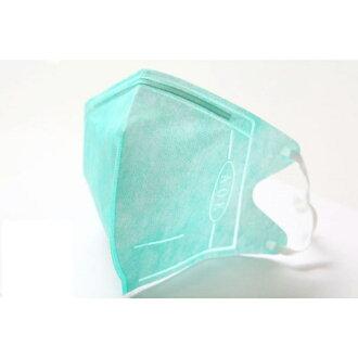 『121婦嬰用品館』AOK 3D一般醫用口罩 L - 粉綠 5入