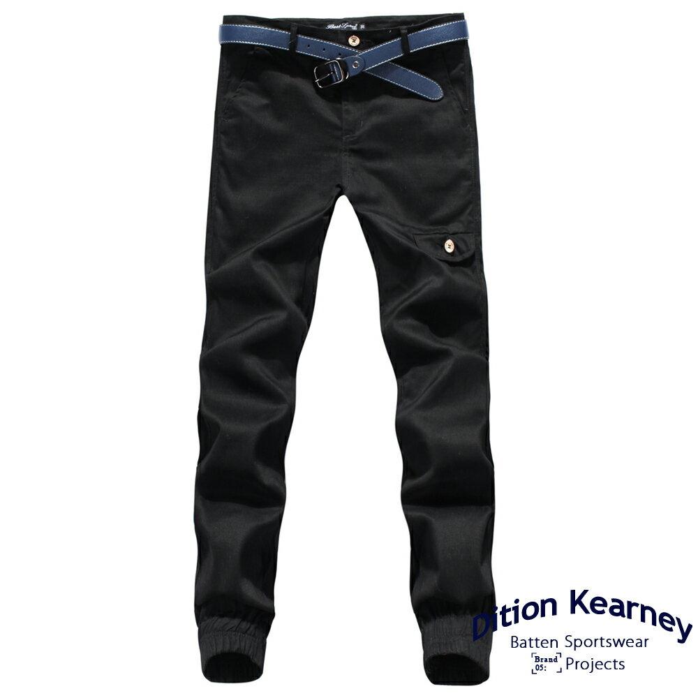 DITION   軍風釘釦JOGGER側口袋七分縮口褲 合身版 5