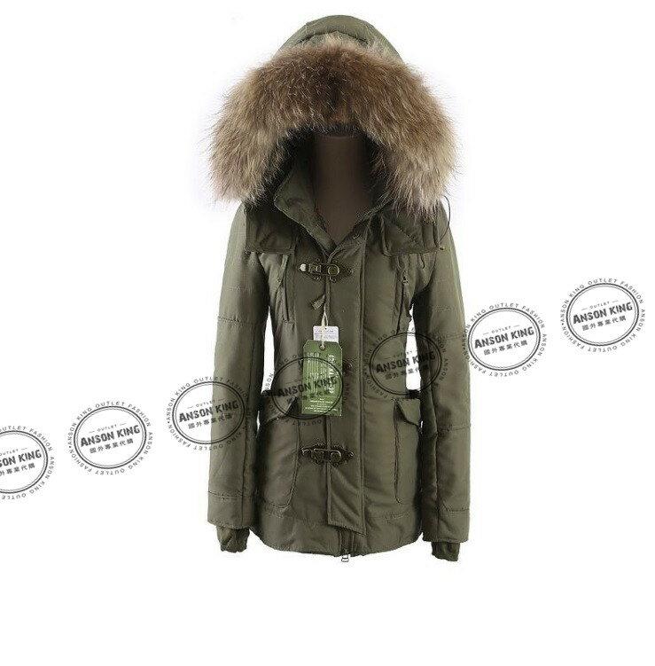 日本代購 正品 2015 SLY-N3B 秋冬長版短版 軍裝羽絨保暖連帽毛毛外套 四色可選 2