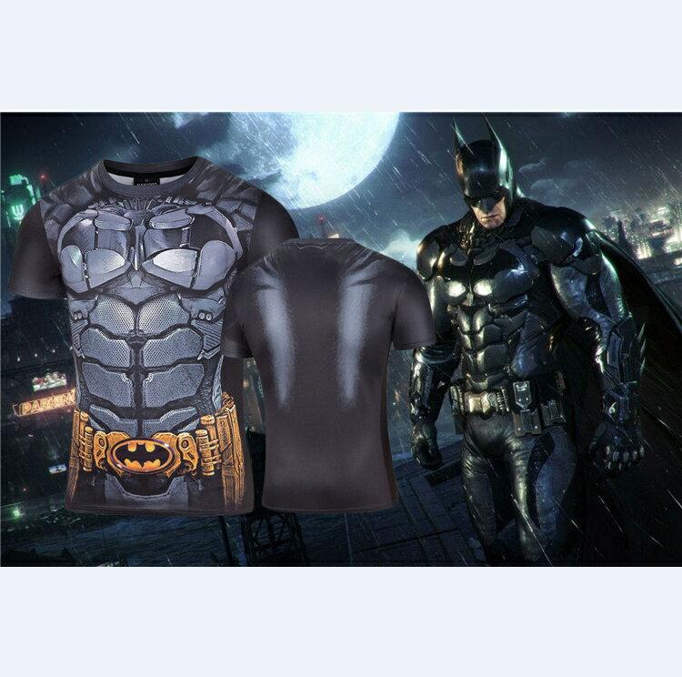 50%OFF【A013797C】蝙蝠俠大戰超人短T漫威DC卡通復仇者聯盟電影歐美街頭男女可穿英雄速乾牛奶絲短T