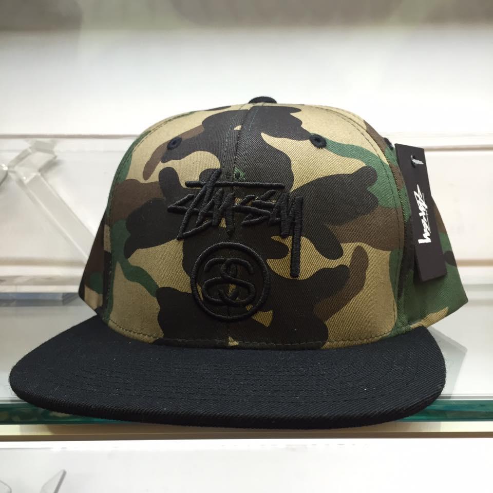 BEETLE STUSSY STOCK LOCK FA15 CAP 迷彩 黑 棒球帽 LOGO 滿版 刺繡 復古 0