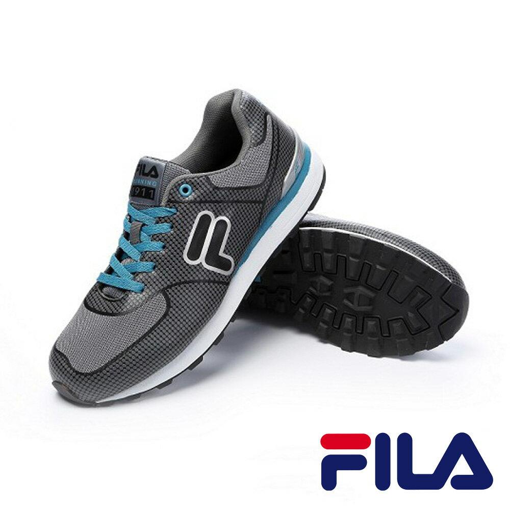 FILA  男款  復古避震減壓慢跑鞋 灰色 J527P-434 0