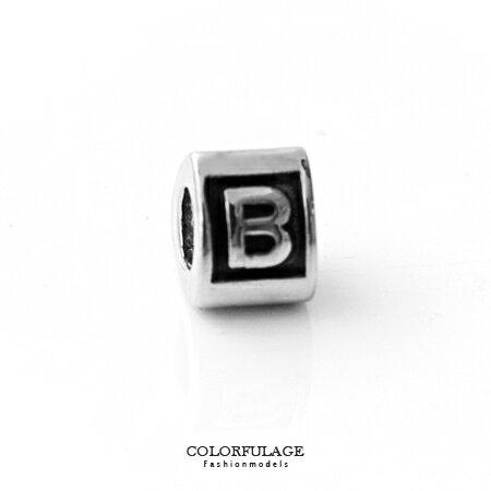 組合字母串珠手鍊 自由搭配鋼墜手環 B字母 柒彩年代【NT4】CHARMS 0