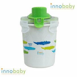 【淘氣寶寶】美國 Innobaby 雙層不鏽鋼吸管學習水杯 不銹鋼水杯 8oz 240ml 綠色鱷魚【保證公司貨●非水貨】