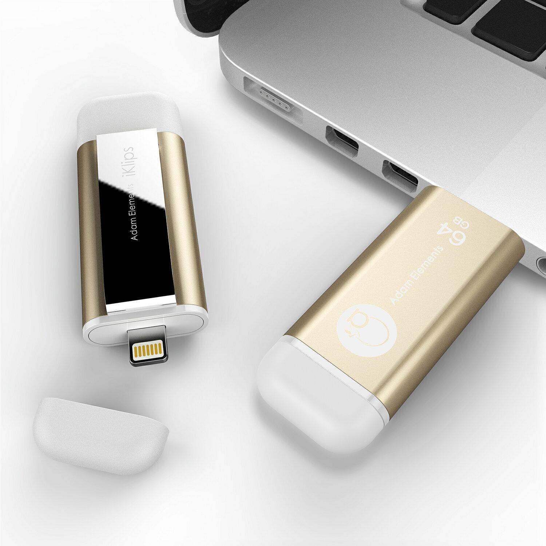 【亞果元素】iKlips iOS系統專用USB 3.0極速多媒體行動碟 64GB 金色 3